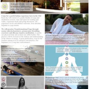 UK Transformational Yoga Retreat Poster